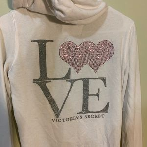 Limited edition Victoria's Secret zip-up hoodie